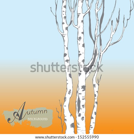 Autumn background. Autumn tree.Vector illustration. Eps 10 - stock vector