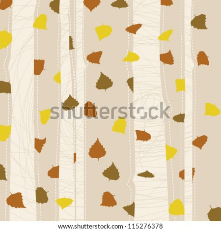 Autumn Background/Birch