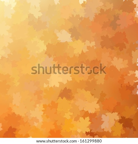 Autumn background template. And also includes EPS 10 vector - stock vector