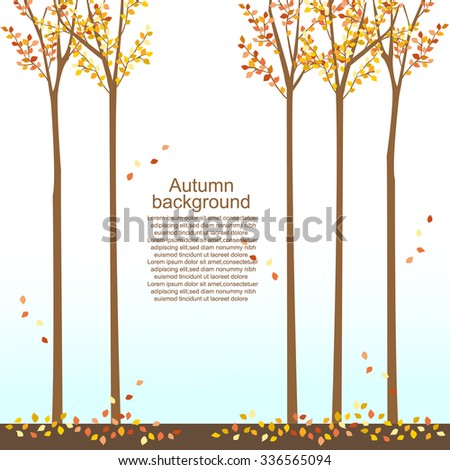 autumn background -trees,leaves,street,falling leaves