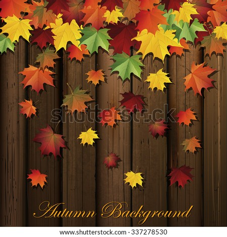 Autumn background.Vector - stock vector