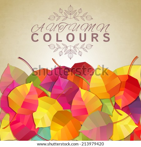 Autumn background. Vector illustration - stock vector