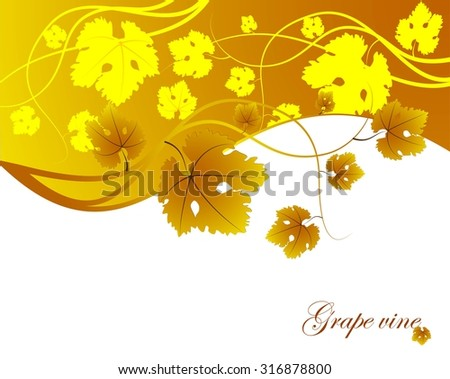 Autumn background with leaves and text