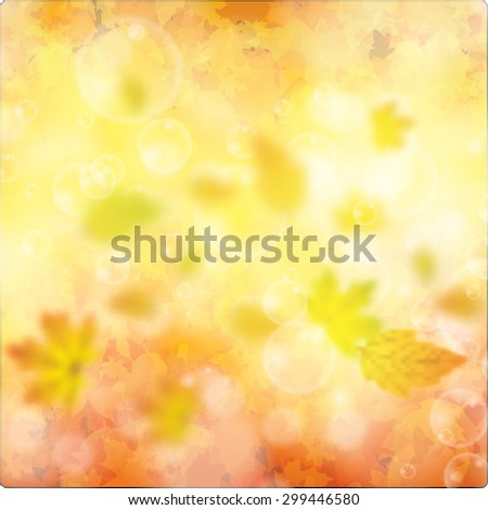 Autumn background with leaves eps10 - stock vector