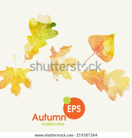 Autumn Background With Leaves. Vector Illustration. Eps 10 - stock vector