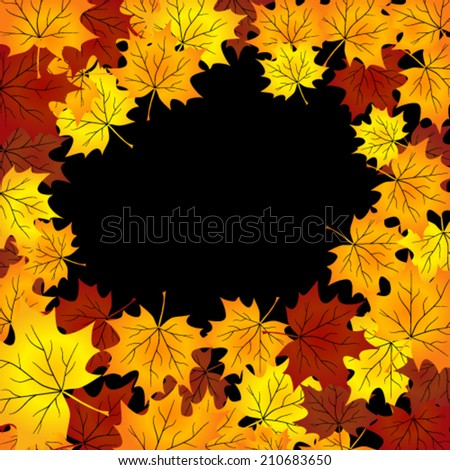 autumn background with maples leaves. - stock vector