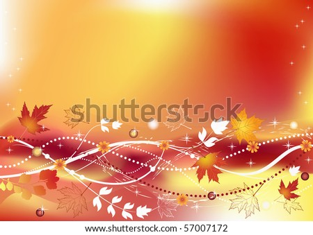 Autumn background with place for your text. Vector illustration. - stock vector