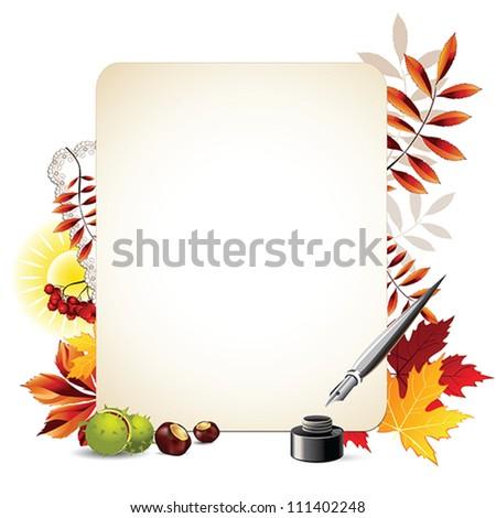 autumn backgrounds - stock vector