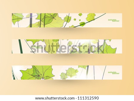 Autumn banner set, vector illustration eps10 - stock vector