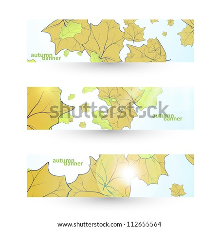 Autumn banner set, vector illustration eps10 - stock vector