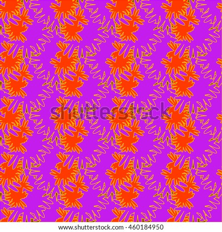 Autumn bright colors leaves carved seamless pattern for background or design work. - stock vector
