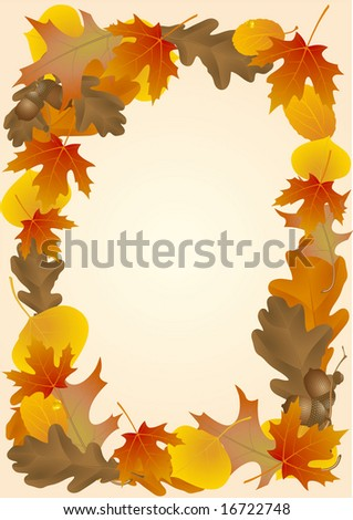 Autumn decoration. Vector.