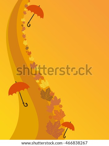 Autumn design, vector illustration, place for text