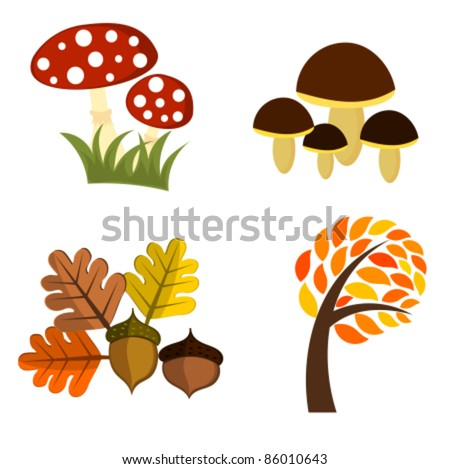 Autumn elements for design. Vector illustration