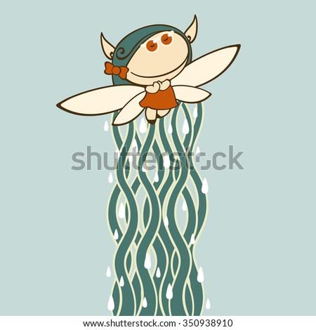 Autumn fairy - stock vector