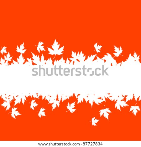 Autumn falling leaves background with blank border for seasonal design. Rasterized version also available in gallery - stock vector