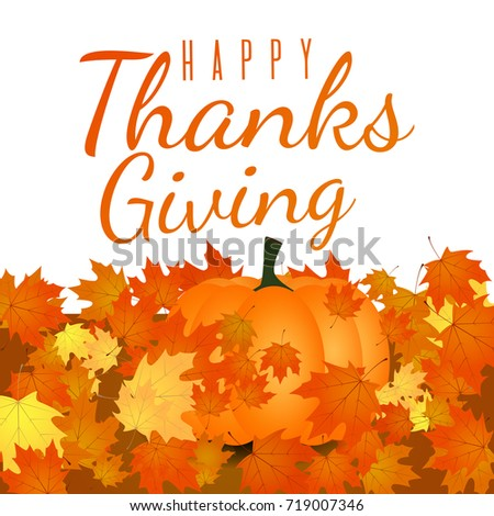 Autumn foliage background thanksgiving holiday greeting stock vector thanksgiving holiday greeting card m4hsunfo