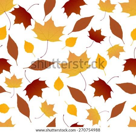 autumn foliage pattern - stock vector