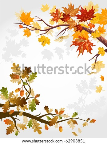 Autumn forest - stock vector