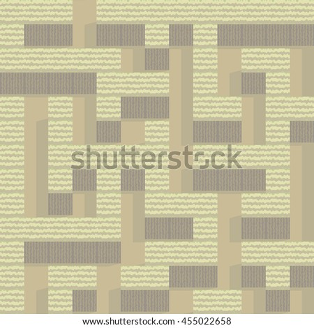 Autumn garden maze pattern vector