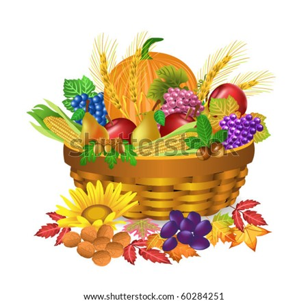 autumn harvest - stock vector