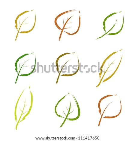 autumn leaves. autumn leaves concept. - stock vector