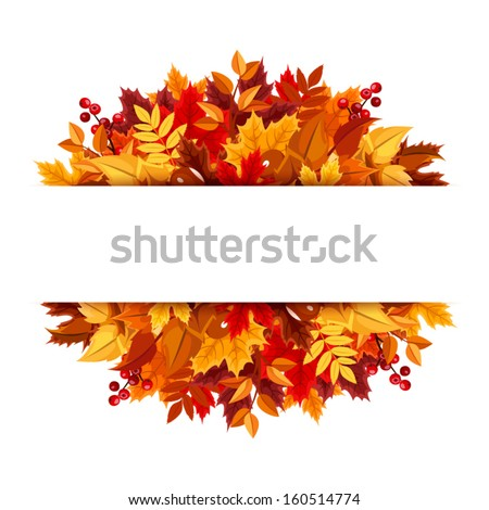 Autumn leaves background. Vector illustration. - stock vector
