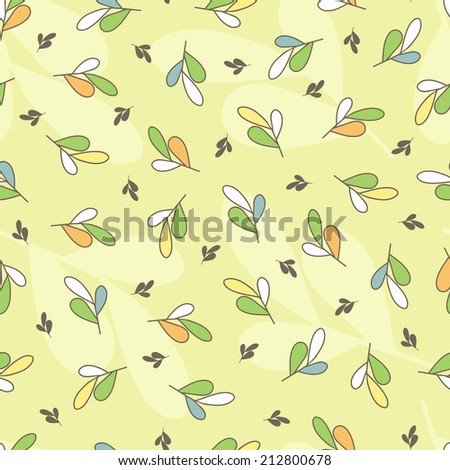 Autumn leaves. Foliage background. Seamless pattern. - stock vector