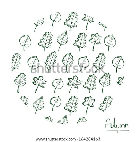 autumn leaves pattern vector stock vector 164284163 shutterstock