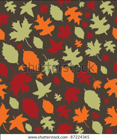 Autumn Leaves Repeat Pattern - 1