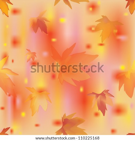 Autumn leaves seamless pattern. Vector illustration.