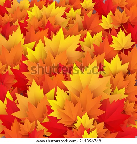 autumn leaves texture - vector abstract background - stock vector