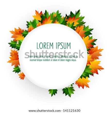 Autumn leaves. Vector seasonal background - stock vector