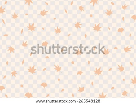 Autumn maple leaves background - stock vector