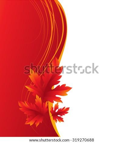 Autumn maple leaves background. Vector illustration EPS 10 - stock vector