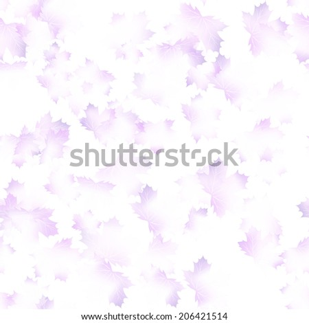 Autumn maple leaves pattern background. Colored art autumn leaves. Fabric texture. - stock vector