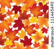 autumn maple leaves seamless pattern background - stock vector