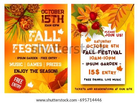Autumn Music Festival October Seasonal Fall Stock Vector 2018