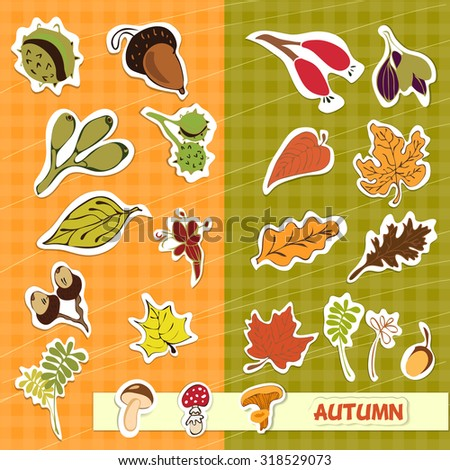 autumn nature children applique