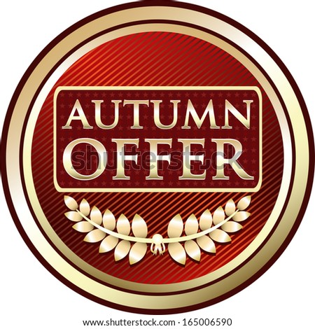 Autumn Offer Red Label - stock vector
