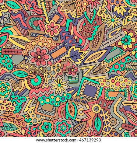 Fall Doodles Wallpaper Ethnic Zentangle Ornament Spring Floral Texture Pencil