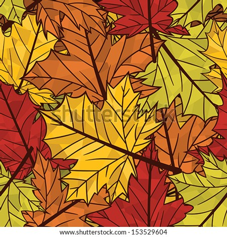 Autumn related seamless pattern - stock vector