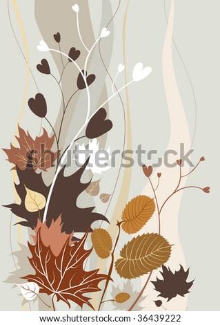 Autumn retro background - stock vector