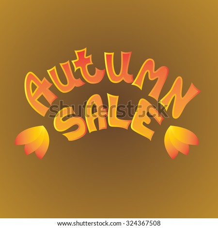 Autumn sale icon. Autumn special sale vector typography poster. Autumn sale Lettering