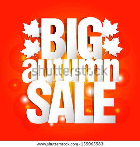 Autumn Sale Paper Design