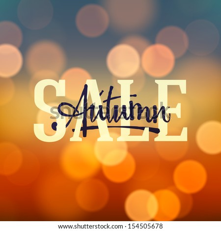 Autumn Sale poster, vector illustration.  - stock vector