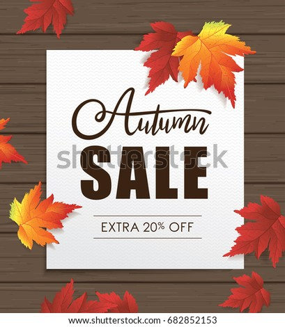 autumn sale poster fall leaves on stock vector 682852153 shutterstock