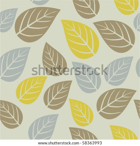 Autumn seamless texture with leafs.