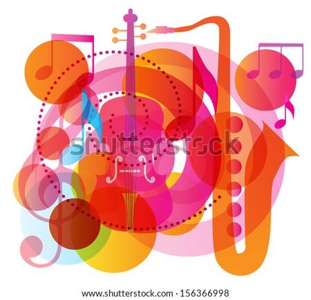 Autumn song. Music Background. Vector illustration  - stock vector
