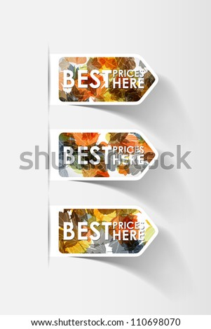 autumn sticker, eps10 - stock vector